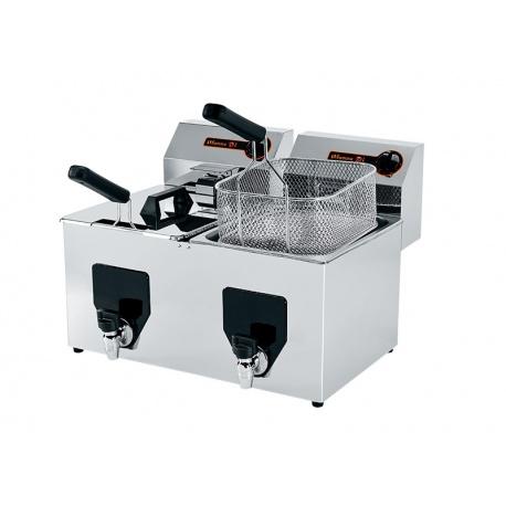 FRITEUSE 16 L ( 2 bacs de 8L) (2*3,5 kW) 13kg de frites par heure et par bac